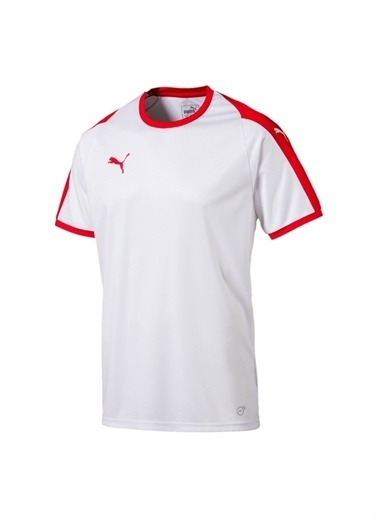 Puma Puma 70341711 Liga Jersey Beyaz - Kırmızı Erkek T-Shirt Beyaz